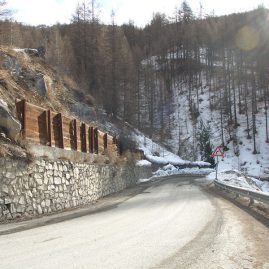 SLOPE STABILIZATION ON ROAD TO RICHARDETTE AND STREAM BANK PROTECTION MEASURES – SAUZE D'OULX DISTRICT (TURIN AREA – ITALY)