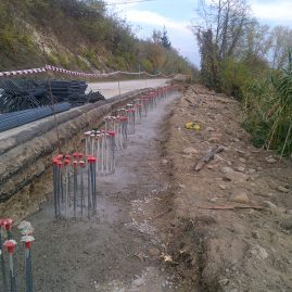 SLOPE STRENGTHENING ALONG VIA MURATORE – MONTICELLO D'ALBA DISTRICT – CUNEO AREA – ITALY