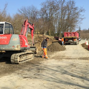 SLOPE STRENGTHENING ON VIA SAN GIOVANNI– CHERASCO DISTRICT – CUNEO AREA – ITALY